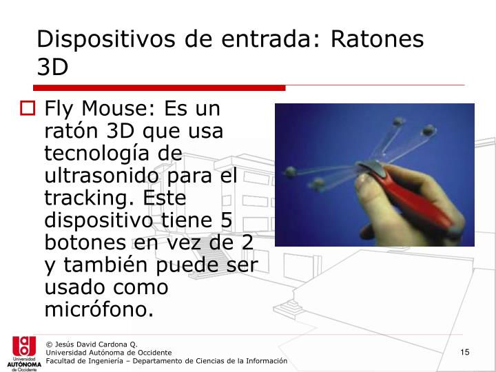 Dispositivos de entrada: Ratones 3D