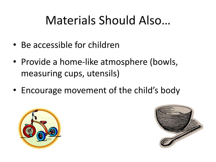 Materials Should Also…