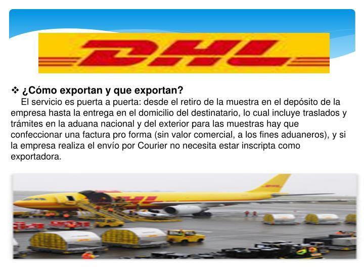 ¿Cómo exportan y que exportan?