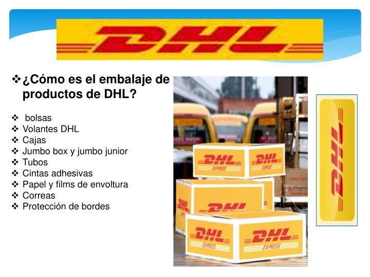 ¿Cómo es el embalaje de productos de DHL?