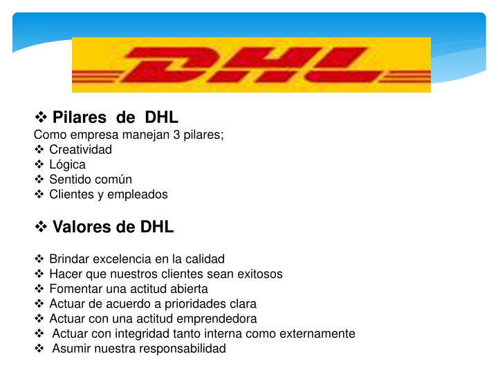 Pilares  de  DHL