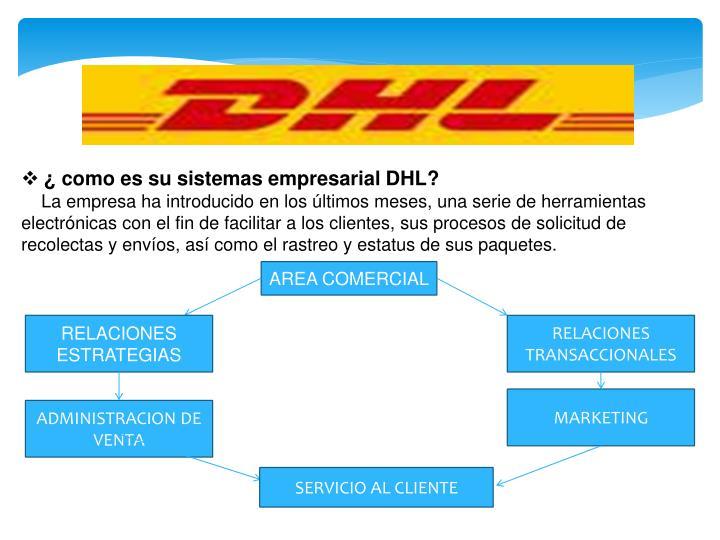 ¿como es su sistemas empresarial DHL?