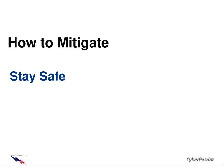 how to mitigate