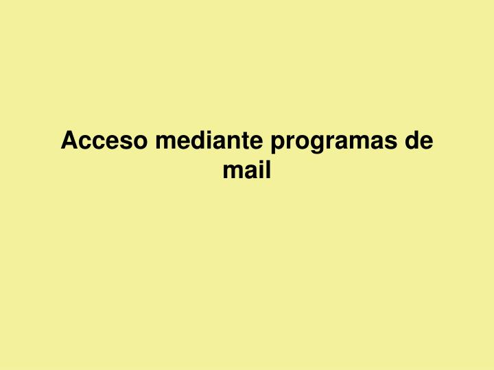 Acceso mediante programas de mail