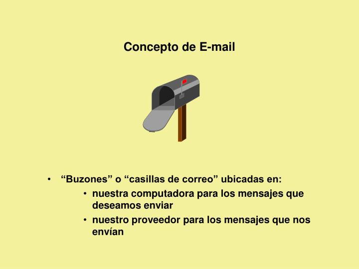 Concepto de E-mail