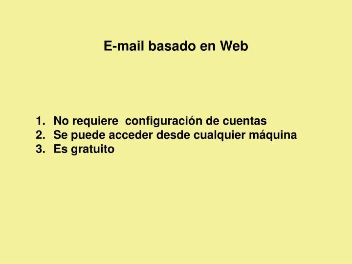 E-mail basado en Web