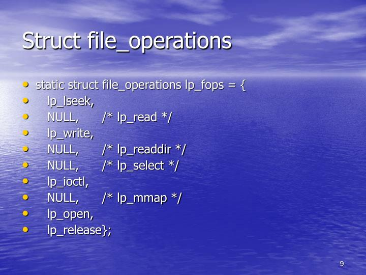 Struct file_operations