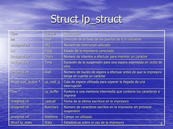 Struct lp_struct