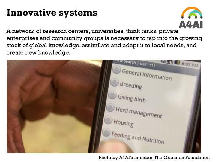 Innovative systems