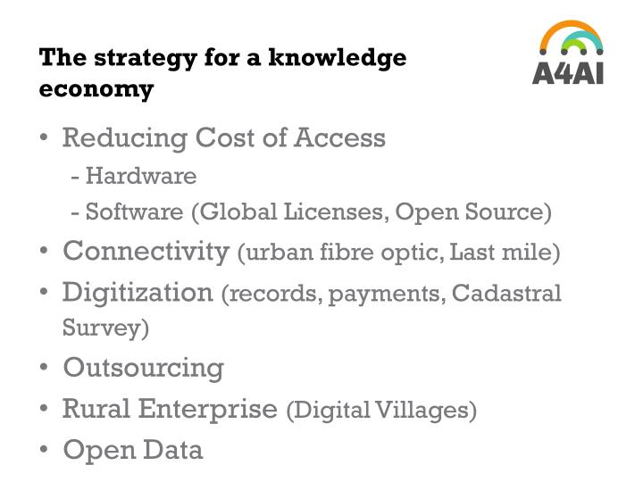 The strategy for a knowledge economy