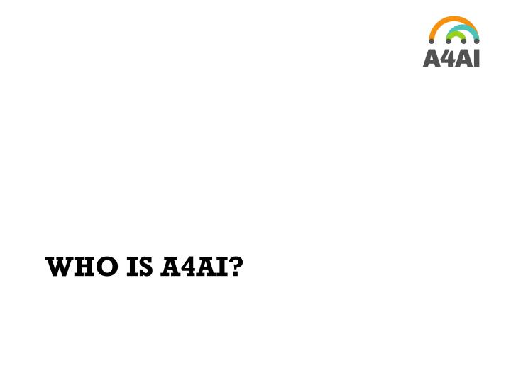 Who is a4ai
