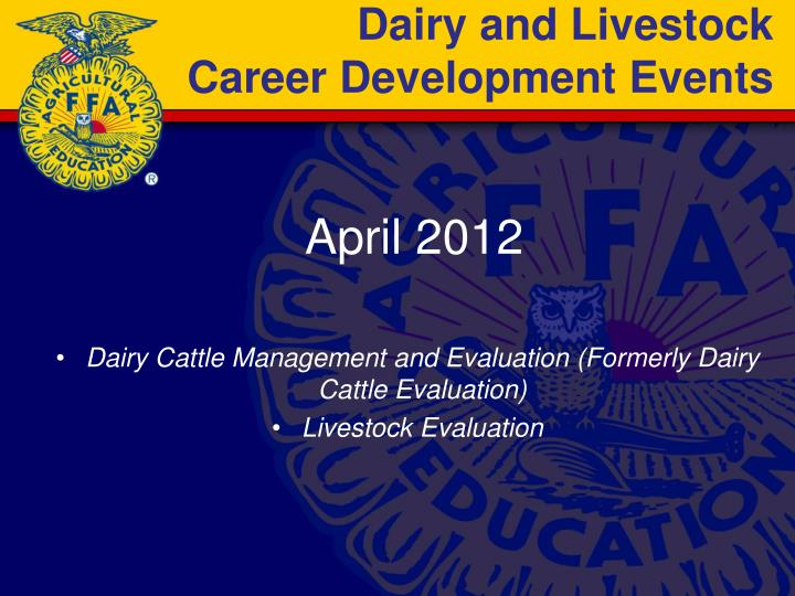 Dairy and Livestock