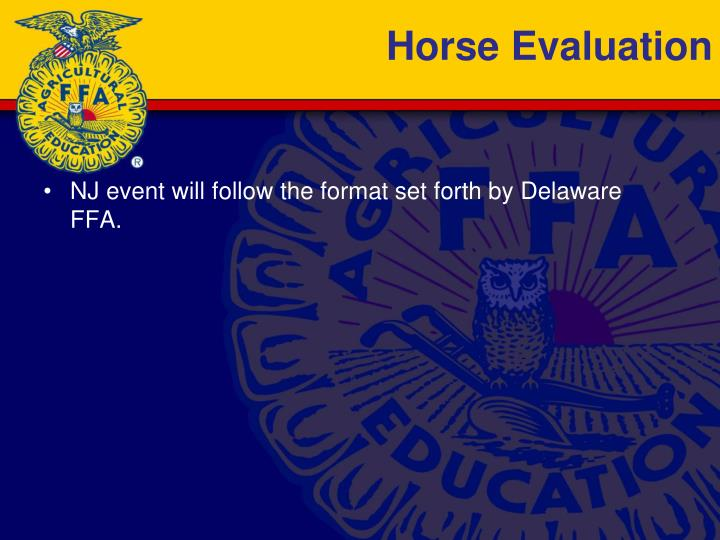 Horse Evaluation