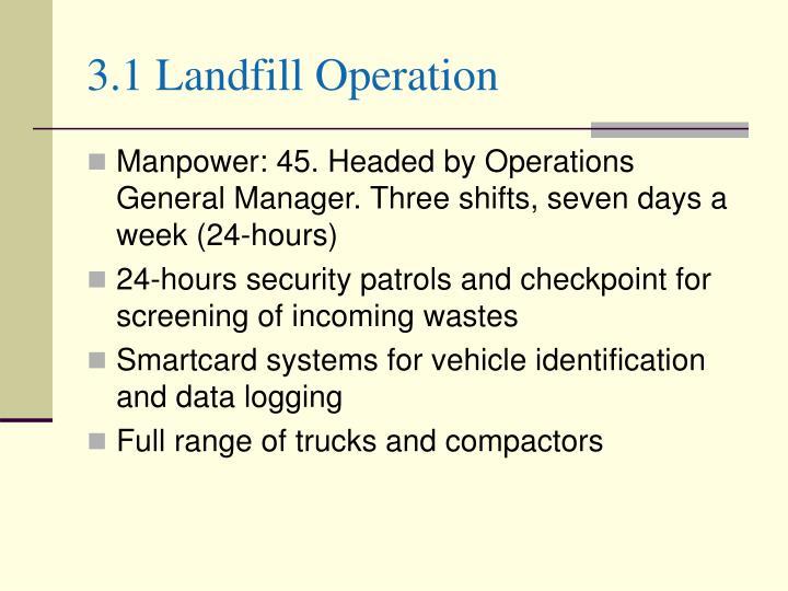 3.1 Landfill Operation