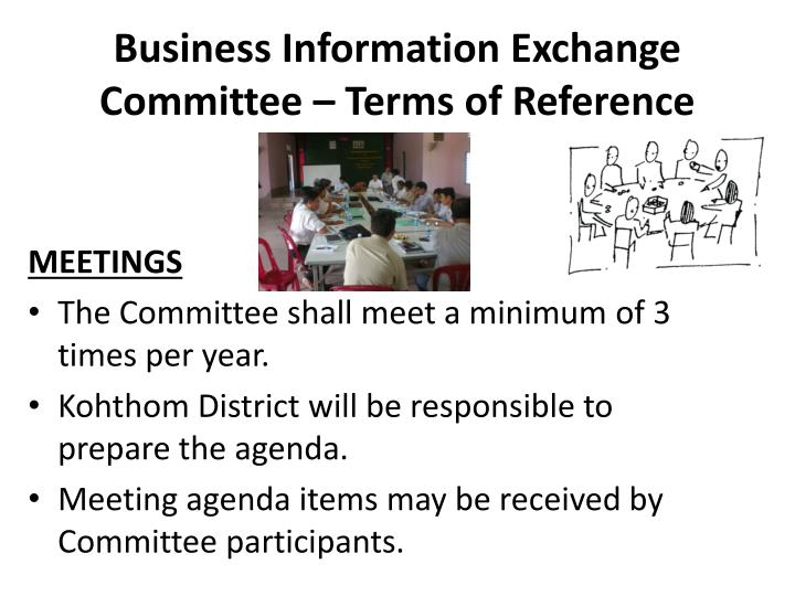 Business Information Exchange Committee – Terms of Reference