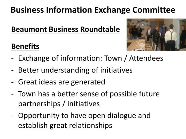 Business Information Exchange Committee