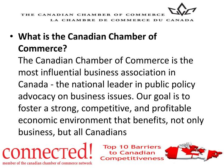 What is the Canadian Chamber of Commerce?