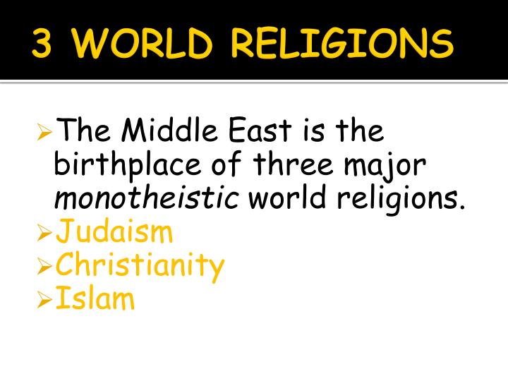 the 3 monotheistic religions Islam arose in the early seventh century ce and it was on mecca (present day saudi arabia) it expanded into areas controlled be the byzantine and sassanian empire muslims that are the persons that practice islamic believe in a day of judgment their calender is lunar their god is allah and it.