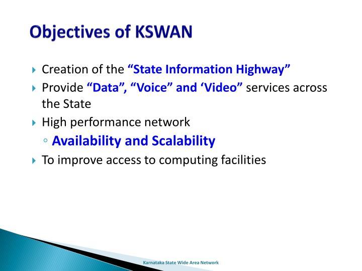 Objectives of KSWAN