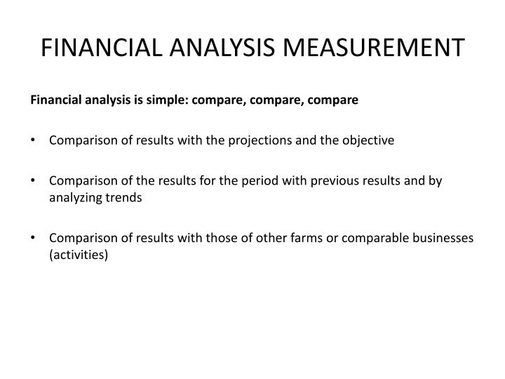 FINANCIAL ANALYSIS MEASUREMENT