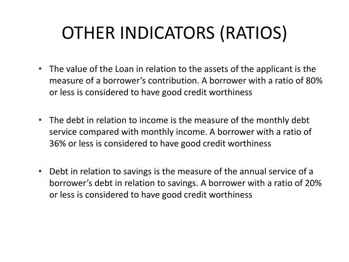OTHER INDICATORS (RATIOS)