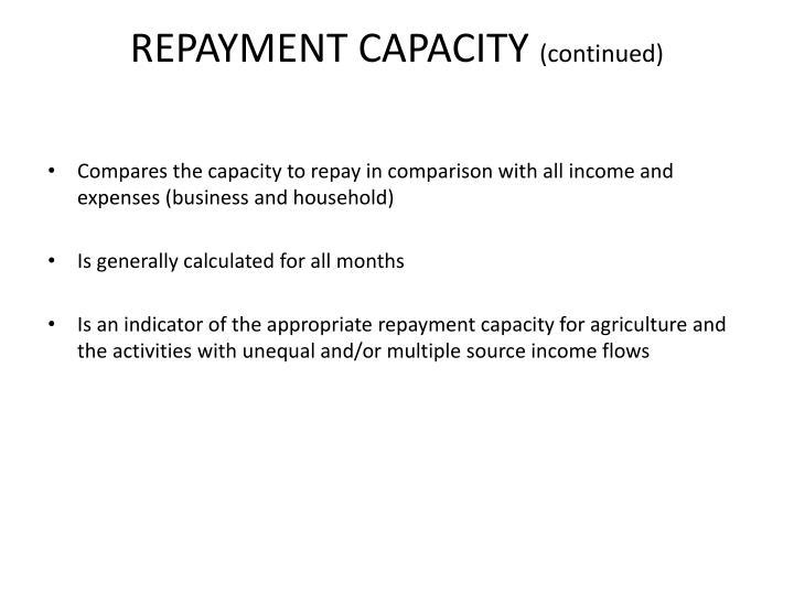 REPAYMENT CAPACITY