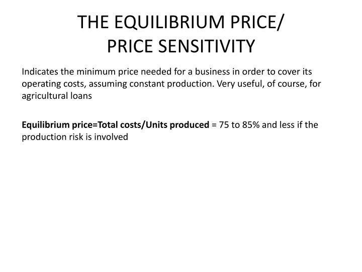 THE EQUILIBRIUM PRICE/
