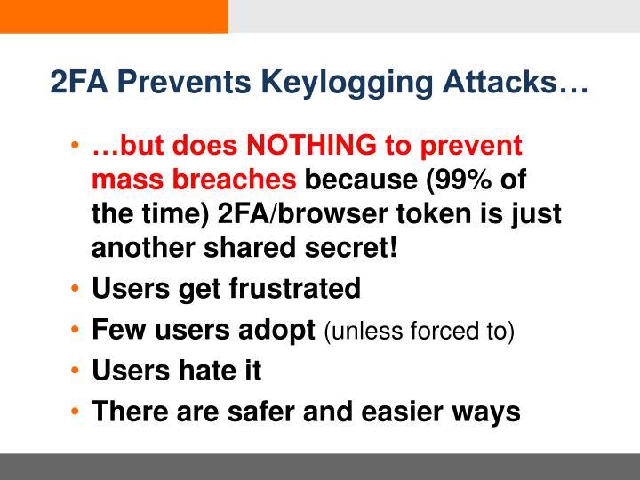 2FA Prevents