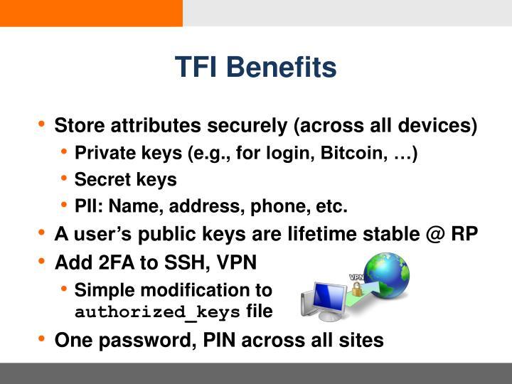 TFI Benefits