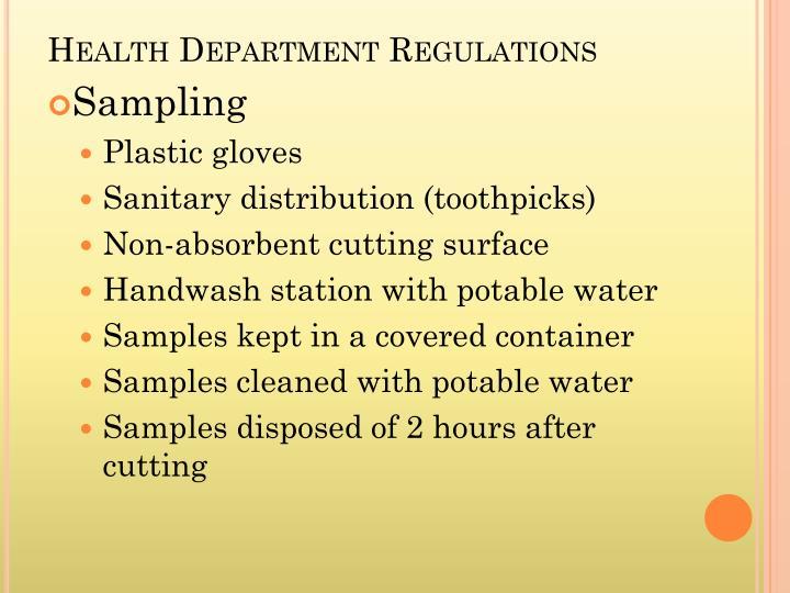 Health Department Regulations