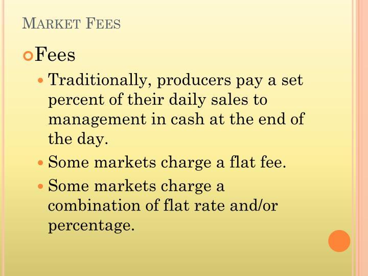 Market Fees