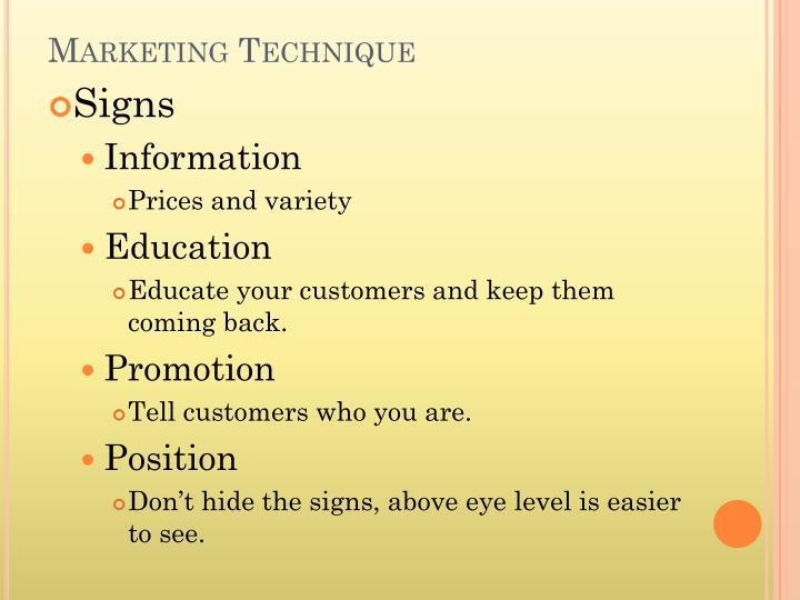 Marketing Technique