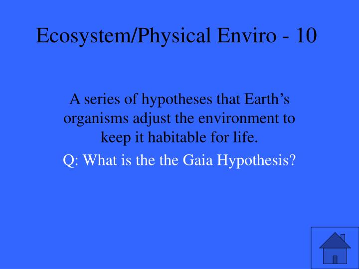 Ecosystem physical enviro 101
