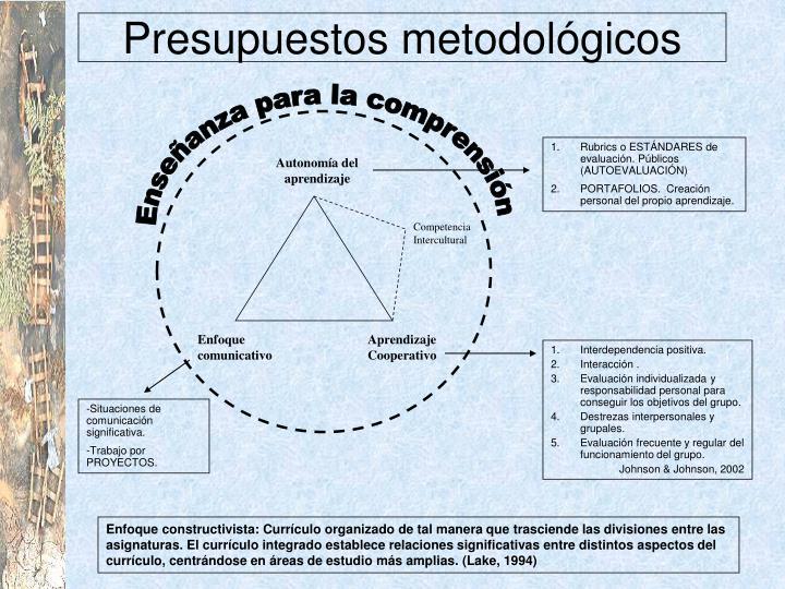 Presupuestos metodológicos