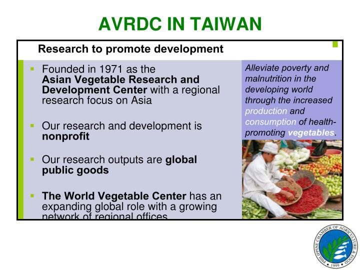 AVRDC IN TAIWAN