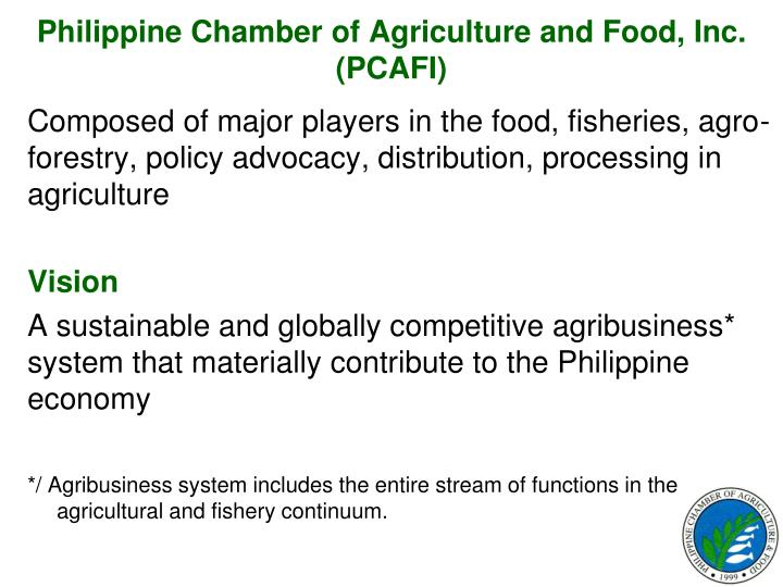 Philippine Chamber of Agriculture and Food, Inc. (PCAFI)
