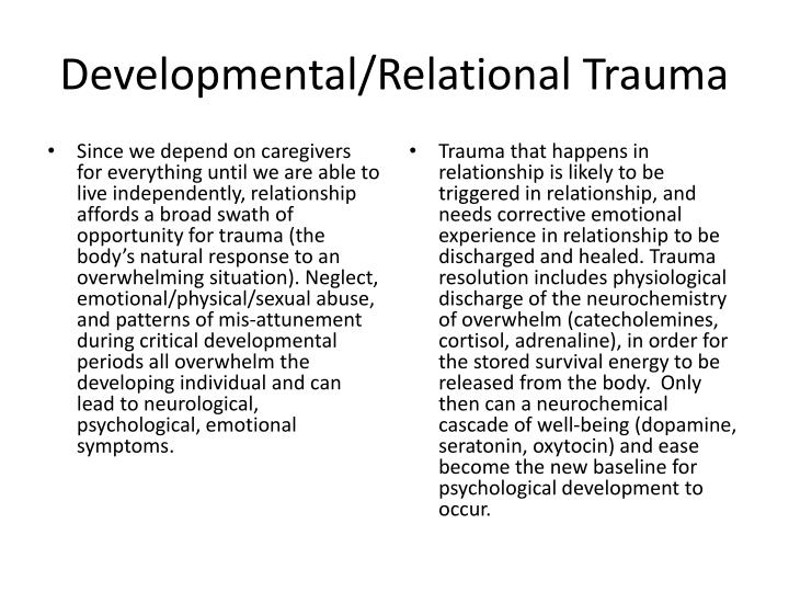 Developmental/Relational Trauma