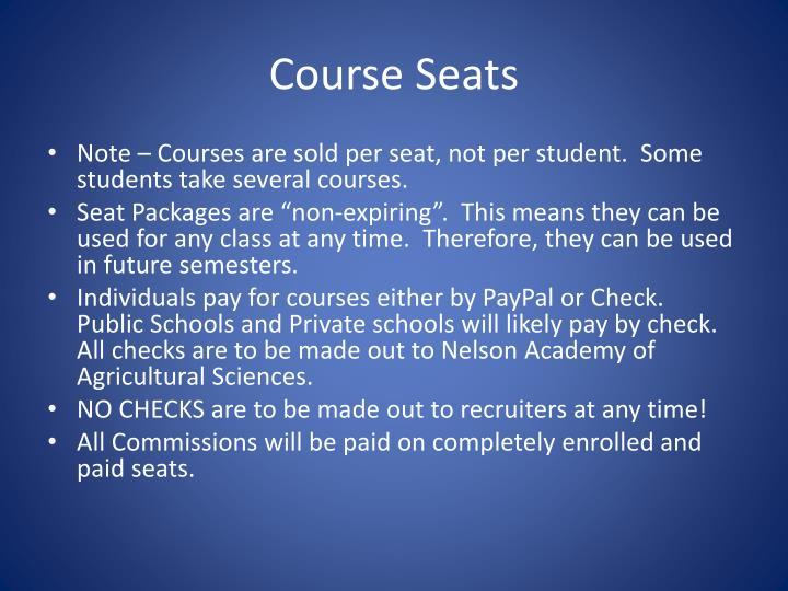 Course Seats
