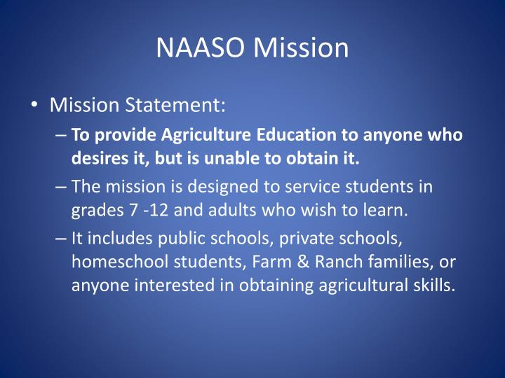 NAASO Mission
