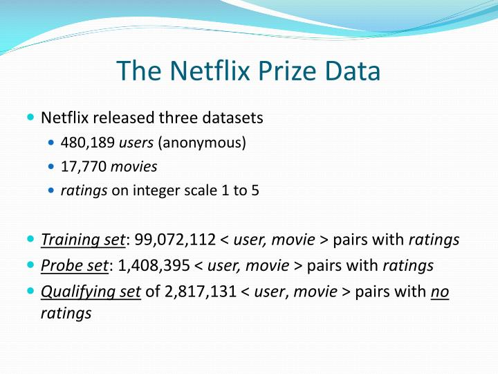The Netflix Prize Data