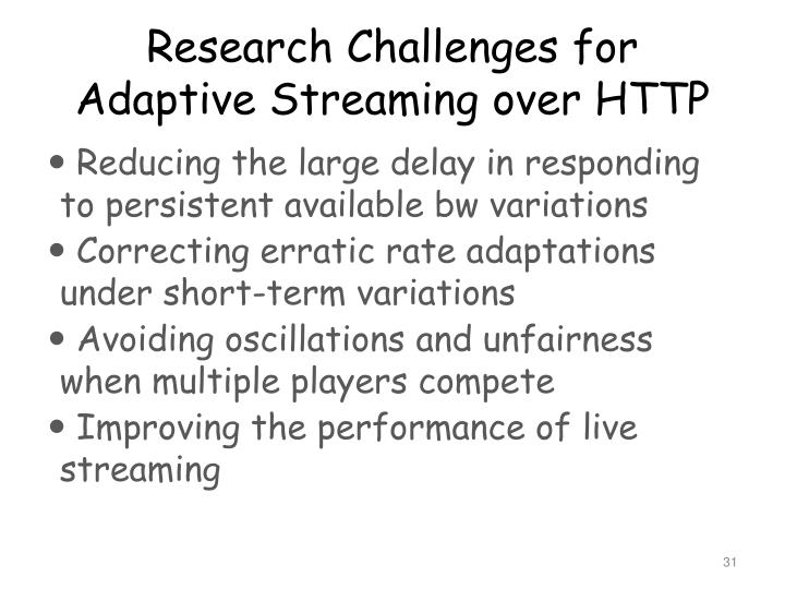 Research Challenges for