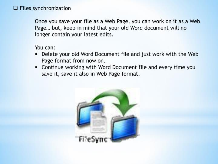 Files synchronization