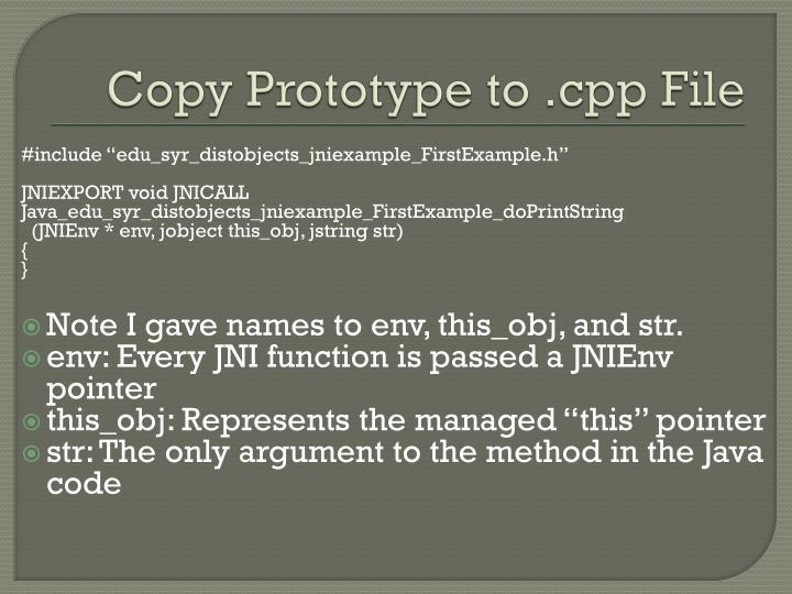 Copy Prototype to .