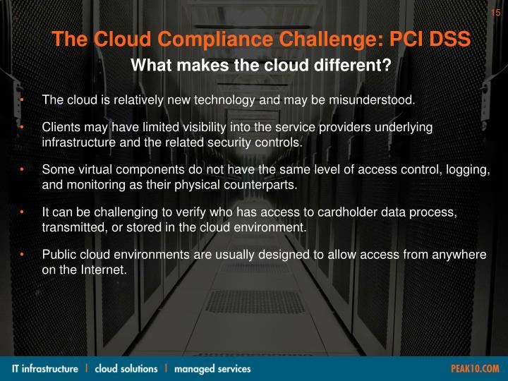 The Cloud Compliance Challenge: PCI DSS