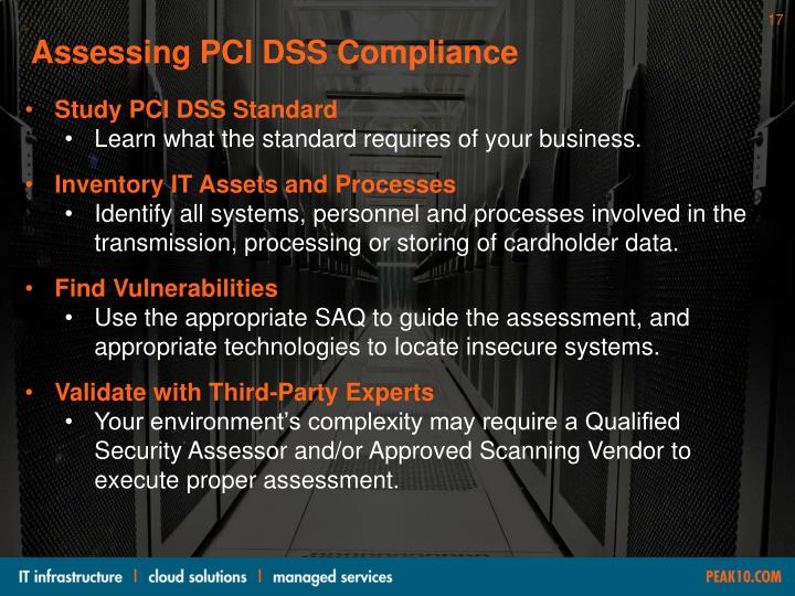 Assessing PCI DSS Compliance