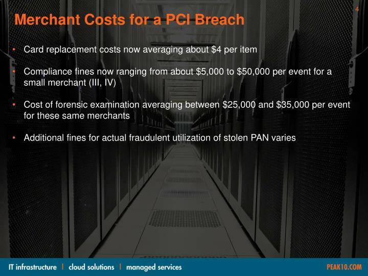 Merchant Costs for a PCI Breach
