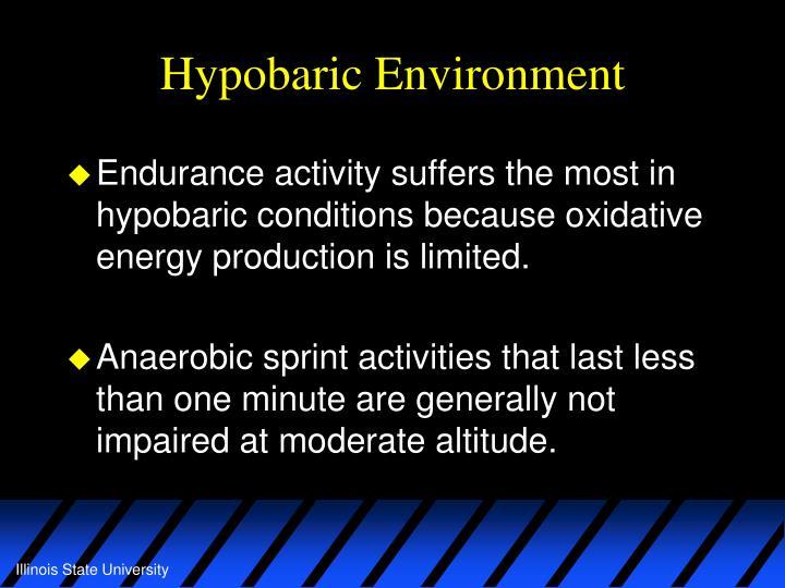 Hypobaric Environment