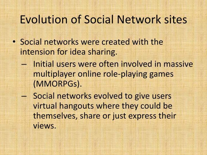 Evolution of Social Network sites