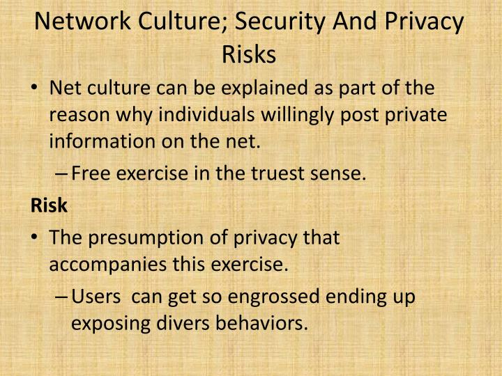 Network Culture; Security And Privacy Risks