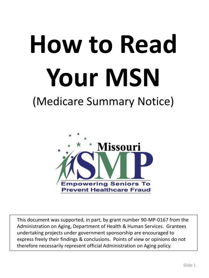 How to Read Your MSN